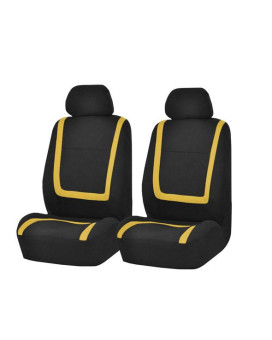 Unique Flat Cloth Bucket Seat Covers - Yellow