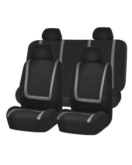 Unique Flat Cloth Seat Covers - Gray