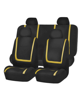 Unique Flat Cloth Seat Covers - Yellow