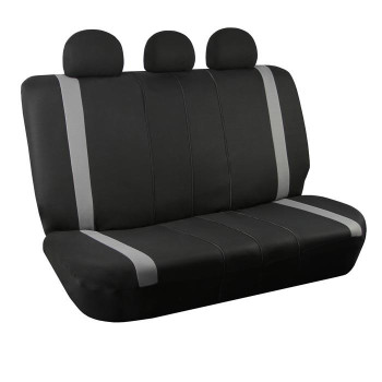 Modernistic Flat Cloth Bench Seat Covers - Gray
