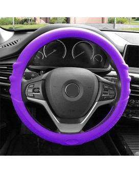Silicone Steering Wheel Cover - Purple