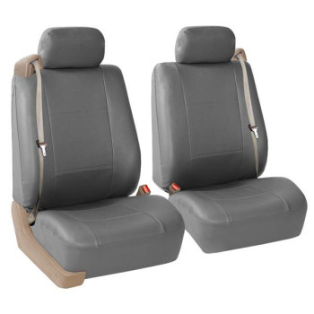 All-Purpose Pu Leather Bucket Seat Covers - Solidgray