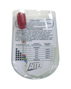 ATD Tools 1101 Pocket Antifreeze and Coolant Tester with Pouch