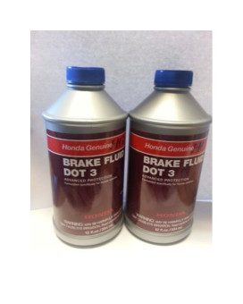 Genuine Honda And Acura Brake Fluid Dot 3 (Pack Of 2)