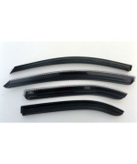 AUTOCLOVER A071 Smoke Window Visor Vent 4-pc Set For 2005 2006 2007 2008 2009 Kia Spectra