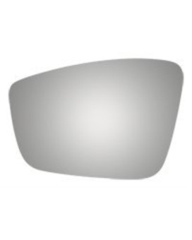 Jetta Beetle Left Driver Replacement Mirror Glass w/o Backing Plate w/ Adhesive