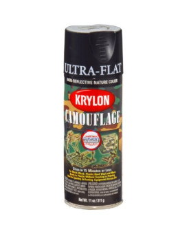 Krylon K04290000 Camouflage With Fusion For Plastic Paint Technology Aerosol Spray Paint, 11-Ounce, Camouflage Black