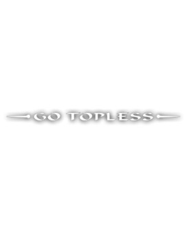 Windshield Decal For Jeep, Wrangler For Flat Glass- Go Topless, For Hard Or Soft Top Removed - In WHITE - 2x42 inch