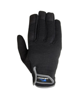 Wells Lamont 7700L Synthetic Suede Leather Glove, Velcro Closure, Black, Large