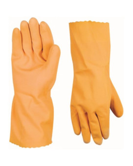 Wells Lamont 173L 21 Mil Latex 13-Inch Glove with Unsupported Gauntlet and Texture Grip, Large