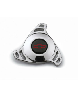 Proform 141-328 Chrome Air Cleaner Wing Nut with Small Hi-Tech Red Bowtie Logo for 1/4-20