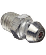 """Alemite 2106 Metric Fitting, Straight, 6 mm x 1 mm (Pitch) Tapered, M6"""" Metric"""