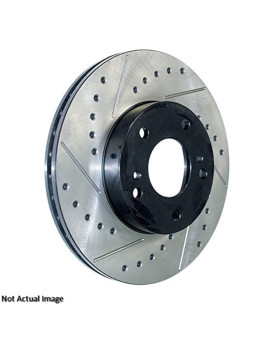 Stoptech 227.45068R Select Sport Drilled And Slotted Brake Rotor; Front Right