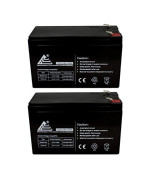 ExpertPower 12V 8AH Sealed Lead Acid (SLA) Battery - F2 Terminals / 2 Pack
