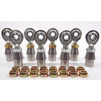 QSC 1/2 X 5/8-18 Economy 4-Link Rod End Kit with 1/2 Steel Cone Spacers & Bungs .120 Wall, Rod End, Heim Joint
