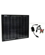 Instapark® NEW All Black 30W Mono-crystalline Solar Panel With a 12V solar charge controller