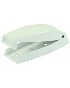 JR Products 10234 White Bullet Baggage Door Catch