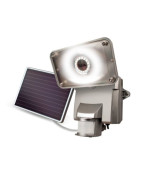 MAXSA Innovations 44640 Silver Motion-Activated Solar LED Security Floodlight