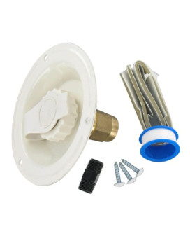 Valterra A01-0177LFVP Colonial White Lead-Free Metal Recessed Water Inlet