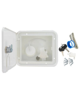 Valterra A01-2004VP White Carded Gravity/Plastic City Water Inlet Hatch