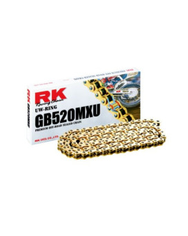 RK Racing Chain GB520MXU-116 Gold 116-Links UW-Ring Chain with Connecting Link