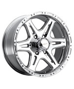 Ultra Badlands 16 Polished Wheel / Rim 5x135 with a 10mm Offset and a 87 Hub Bore. Partnumber 208-6853P