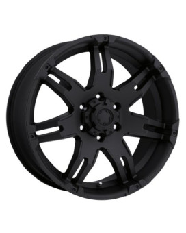 Ultra Gauntlet 17 Black Wheel / Rim 6x5.5 with a 25mm Offset and a 106 Hub Bore. Partnumber 238-7984B