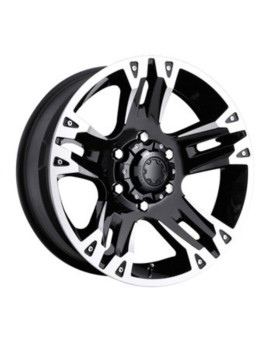 Ultra Maverick 17 Black Wheel / Rim 6x5.5 with a 10mm Offset and a 106 Hub Bore. Partnumber 235-7883B