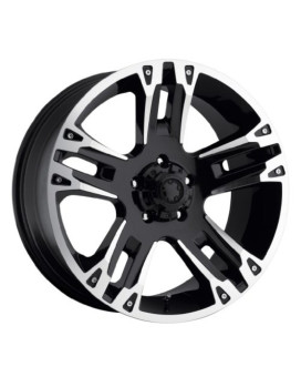 Ultra Maverick 16 Black Wheel / Rim 5x135 with a 10mm Offset and a 87 Hub Bore. Partnumber 235-6853B