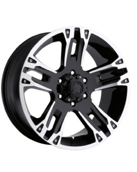 Ultra Maverick 17 Black Wheel / Rim 6x5.5 with a 0mm Offset and a 106 Hub Bore. Partnumber 234-7883B