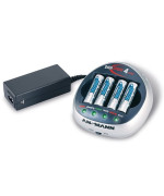 Ansmann 5707153/US DigiSpeed 4 Ultra Plus High Speed Battery Charger with 4 AA 2850 mAh Batteries