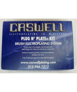 Plug N' Plate Brass Electroplating Kit