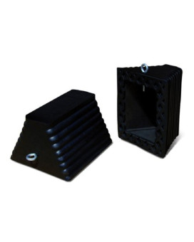 """Roadblock RC915 Rubber Wheel Chock with Void Bottom, Black, 11.5"""" Length, 10"""" Width, 7.25"""" Height"""