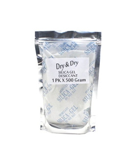 """500gm Pack of 1 """"Dry&Dry"""" Silica Gel Packets Desiccant Dehumidifier"""