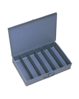 """Durham 117-95-IND Gray Cold Rolled Steel Individual Large Vertical Box, 18"""" Width x 3"""" Height x 12"""" Depth, 6 Compartment"""