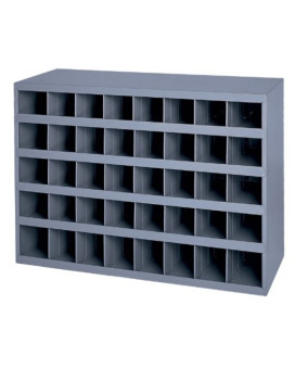 """Durham 359-95 Gray Cold Rolled Steel 40 Opening Bin with Slope Self Design, 33-3/4"""" Width x 23-7/8"""" Height x 12"""" Depth"""
