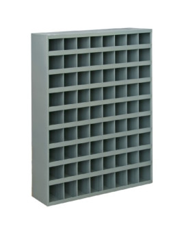 """Durham 363-95 Gray Cold Rolled Steel 72 Opening Bin with Slope Self Design, 33-3/4"""" Width x 42"""" Height x 12"""" Depth"""