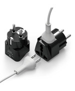 elago TR-PW-DEFR-1P Grounded Universal Dual Plug Travel Adapter for Germany, France, Europe, Russia and More
