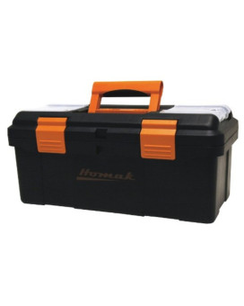 Homak   BK00116004 16-Inch Plastic Tool Box with Tray and Dividers