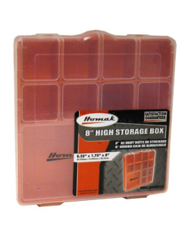 Homak   HA01088175 Tall Plastic Storage Box
