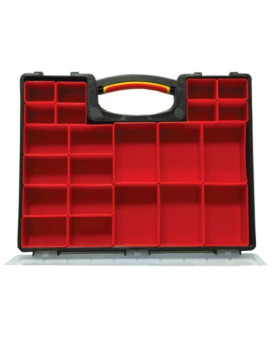 Homak   HA01122238 Plastic Organizer with 22 Removable Bins