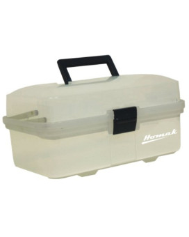 Homak   TP00113067 13-Inch Plastic Transparent Toolbox with 2 Tray Tier