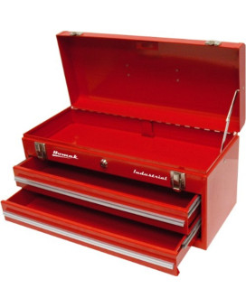 "Homak RD00202200 Red 20"" 2 Drawer Hand Box"
