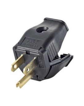 Plug 3wire Grounded Blk