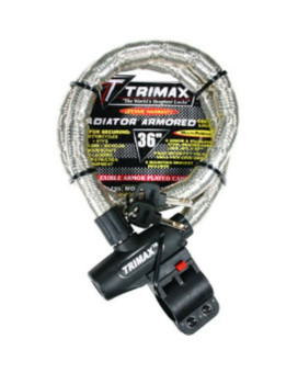 "Trimax TG2236SX High Security Armor Plated Stainless Steel Locking Cable (36"" length x 22mm)"