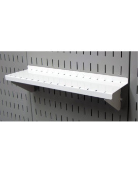 "Wall Control ASM-SH-1604 W 4"" Deep Pegboard Shelf Assembly for Wall Control Pegboard Only, White"