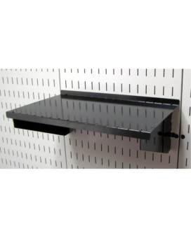 "Wall Control ASM-SH-1609 B 9"" Deep Pegboard Shelf Assembly for Wall Control Pegboard Only, Black"