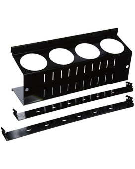 Wall Control ASM-CH-014 B Pegboard Spray Can Holder Bracket and Aerosol Can Organizer for Wall Control Pegboard Only, Black