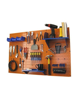 Wall Control Pegboard Standard Tool Storage Kit, Orange/Blue