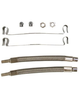 Wheel Masters 8009 Stainless Steel Hand Hole Mount - 2 Hose Kit for 16